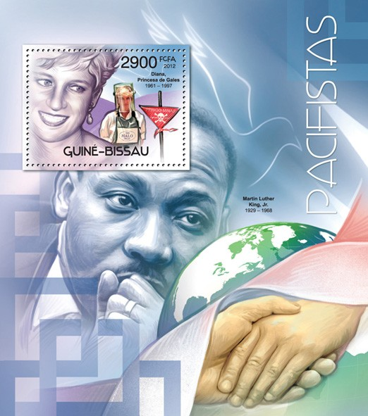 Peace makers (Princess Diana). - Issue of Guinée-Bissau postage stamps