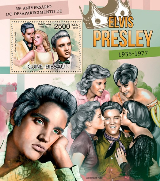 Elvis Presley (1935-1977) - Issue of Guinée-Bissau postage stamps
