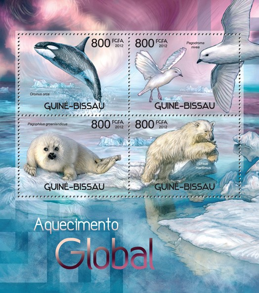 Global warming - Issue of Guinée-Bissau postage stamps