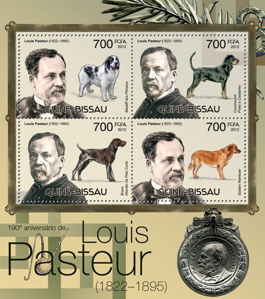 Louis Pasteur (1822-1895) (1905th Anniversary) - Issue of Guinée-Bissau postage stamps