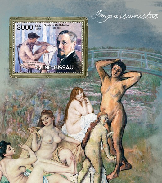 Impressionists (Gustave Caillebotte) - Issue of Guinée-Bissau postage stamps