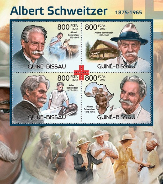 Albert Schweitzer and Red Cross (1875-1965) - Issue of Guinée-Bissau postage stamps