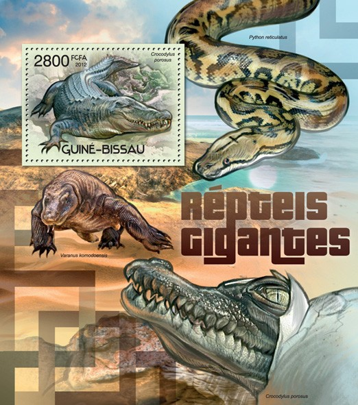 Giant reptiles - Issue of Guinée-Bissau postage stamps