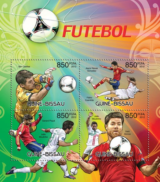 Football - Issue of Guinée-Bissau postage stamps