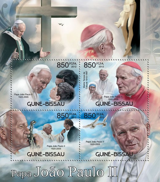 John Paul II - Issue of Guinée-Bissau postage stamps