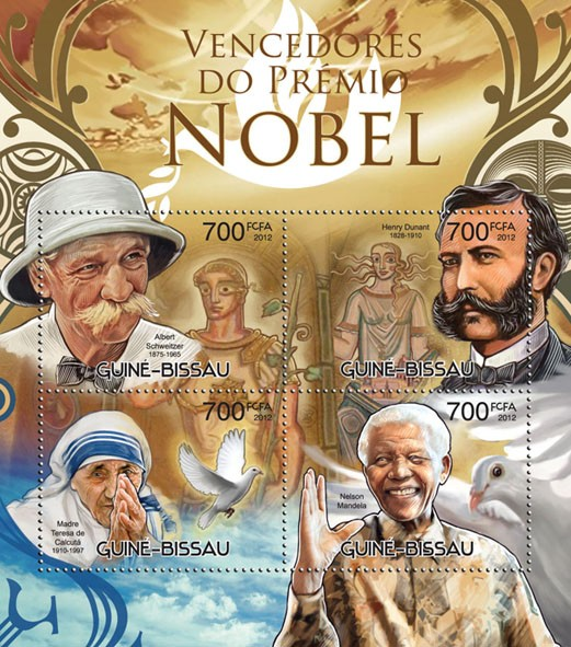 Nobel prize winners - Issue of Guinée-Bissau postage stamps