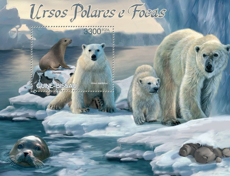 Polar Bear & Seals - Issue of Guinée-Bissau postage stamps