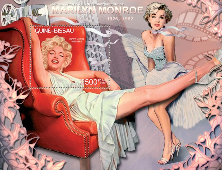 Marilyn Monroe - Issue of Guinée-Bissau postage stamps