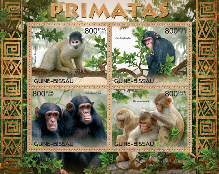 Primates - Issue of Guinée-Bissau postage stamps