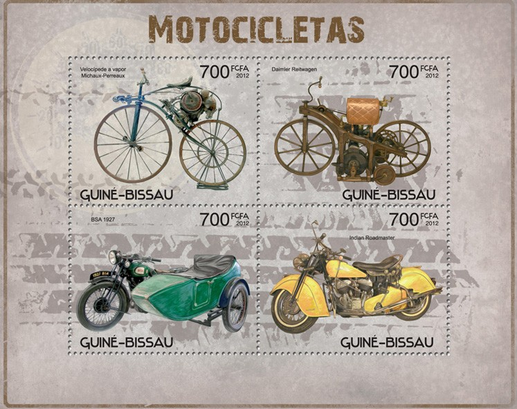 Motorcycles - Issue of Guinée-Bissau postage stamps