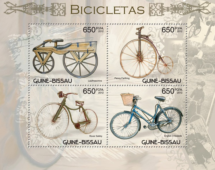 Bicycles - Issue of Guinée-Bissau postage stamps