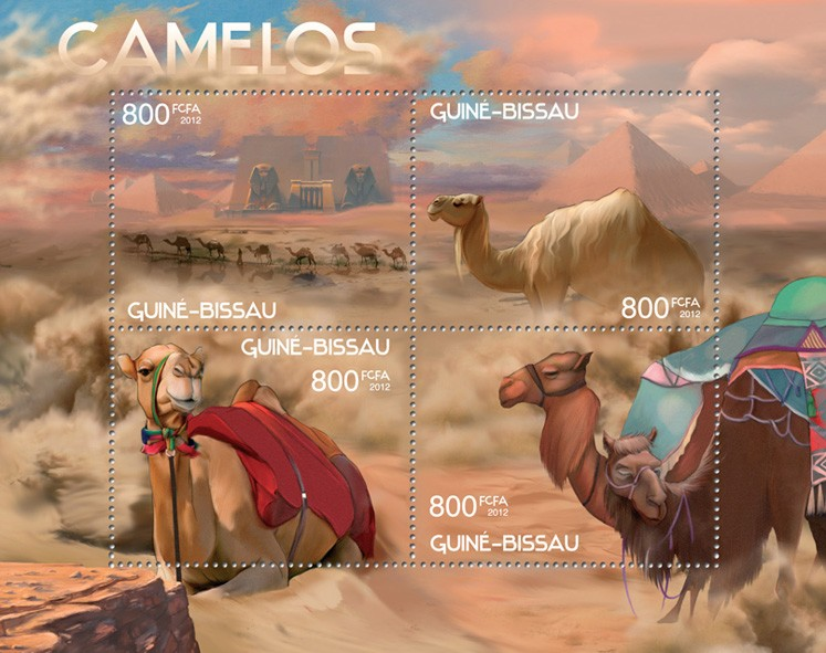 Camels - Issue of Guinée-Bissau postage stamps