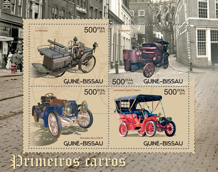 First cars - Issue of Guinée-Bissau postage stamps