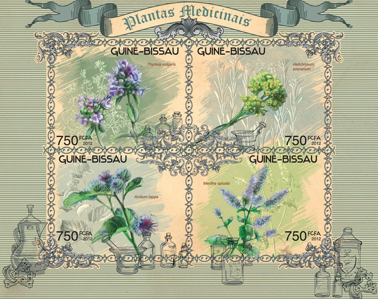 Medical plants - Issue of Guinée-Bissau postage stamps