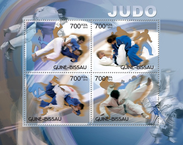 Judo - Issue of Guinée-Bissau postage stamps