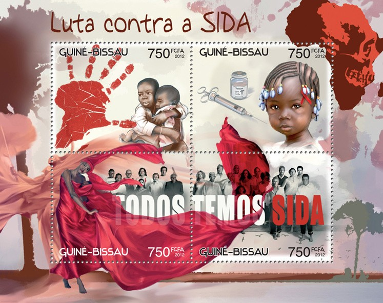 Fight AIDS - Issue of Guinée-Bissau postage stamps
