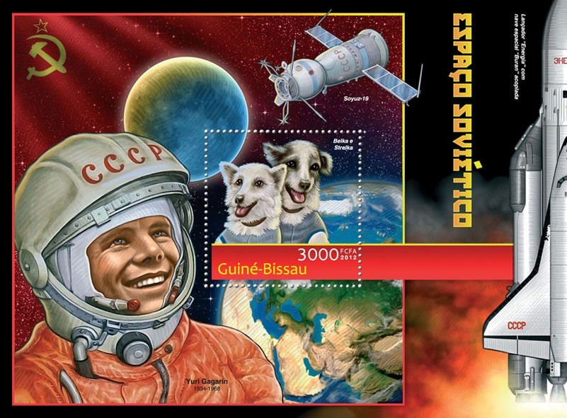 Soviet space (Strelka & Belka). - Issue of Guinée-Bissau postage stamps