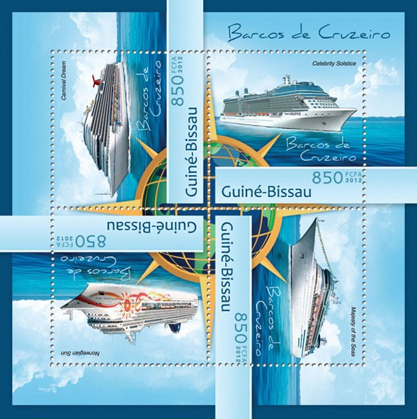 Cruise ships (Carnival Dreem). - Issue of Guinée-Bissau postage stamps