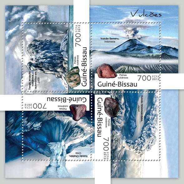 Volcanoes  (Tonga 2009). - Issue of Guinée-Bissau postage stamps