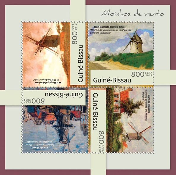 Windmills (W.H.Murphy Grimshaw). - Issue of Guinée-Bissau postage stamps