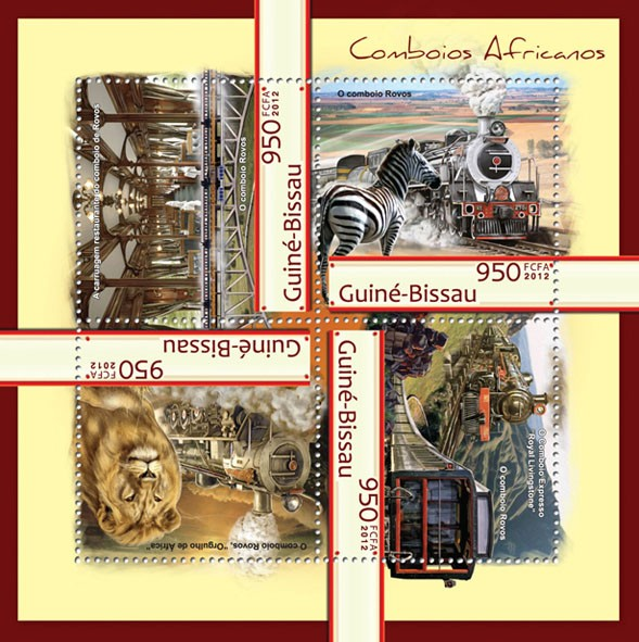 African trains (Royal Livingstone). - Issue of Guinée-Bissau postage stamps