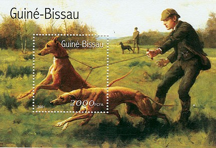 Chiens - Dogs      2000 FCFA S/S - Issue of Guinée-Bissau postage stamps