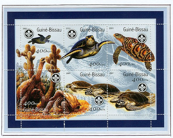 Tortues de mer (Scouts) - Turtles   6 x 400 FCFA - Issue of Guinée-Bissau postage stamps