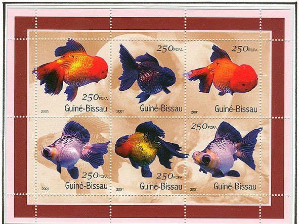 Poissons - Fish    6 x 250 FCFA - Issue of Guinée-Bissau postage stamps