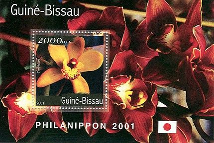 Orchidees (Philanipon 2001) - Orchids S/S 2000 FCFA - Issue of Guinée-Bissau postage stamps