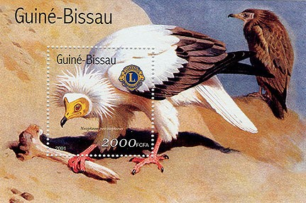 Rapaces (Lions) - Eagles     2000 FCFA S/S - Issue of Guinée-Bissau postage stamps