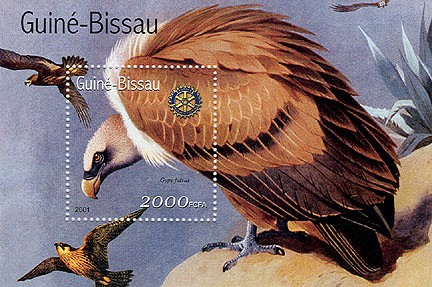 Rapaces (Rotary) - Eagles   2000 FCFA S/S - Issue of Guinée-Bissau postage stamps