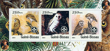 Hiboux (Scouts) - Owls S/S collectifs - Issue of Guinée-Bissau postage stamps