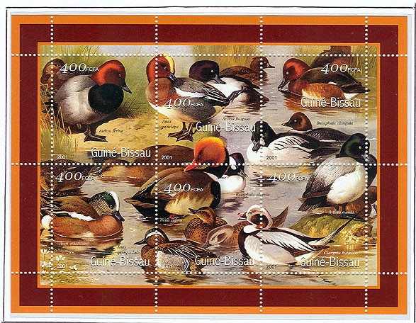 Canards - Duck      6 x 400 FCFA - Issue of Guinée-Bissau postage stamps