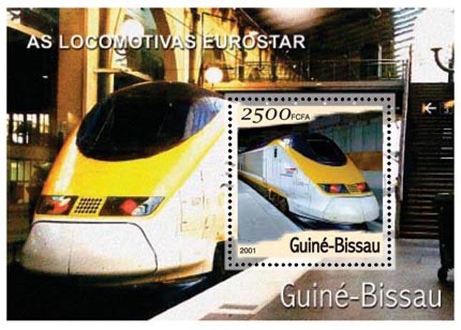 Eurostar  2500 FCFA S/S - Issue of Guinée-Bissau postage stamps