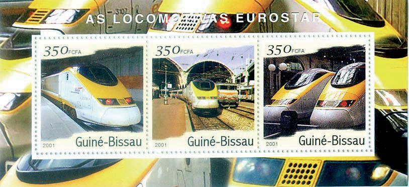 Eurostar S/S collectifs - Issue of Guinée-Bissau postage stamps