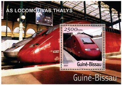 Thailys 2500 FCFA S/S - Issue of Guinée-Bissau postage stamps
