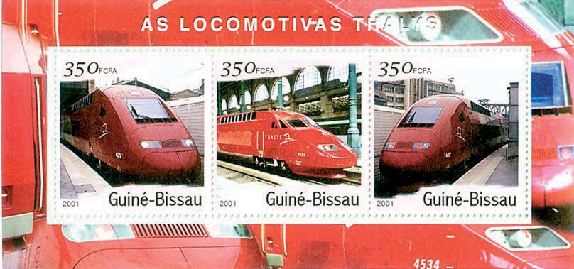 Thailys S/S collectifs - Issue of Guinée-Bissau postage stamps