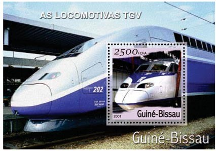 T.G.V. 2500 FCFA S/S - Issue of Guinée-Bissau postage stamps