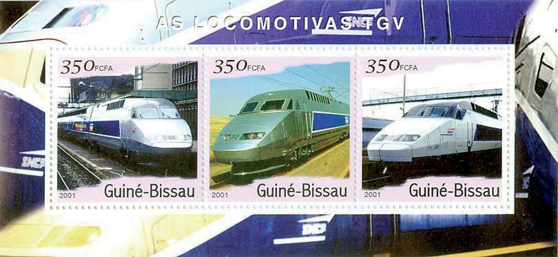 T.G.V.   S/S collectifs - Issue of Guinée-Bissau postage stamps