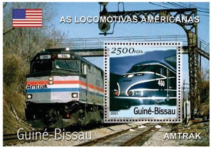 Amtrak 2500 FCFA S/S - Issue of Guinée-Bissau postage stamps