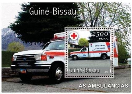 Ambulances 2500 FCFA S/S - Issue of Guinée-Bissau postage stamps