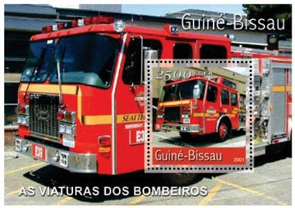 Camions Pompiers 2500 FCFA S/S - Issue of Guinée-Bissau postage stamps