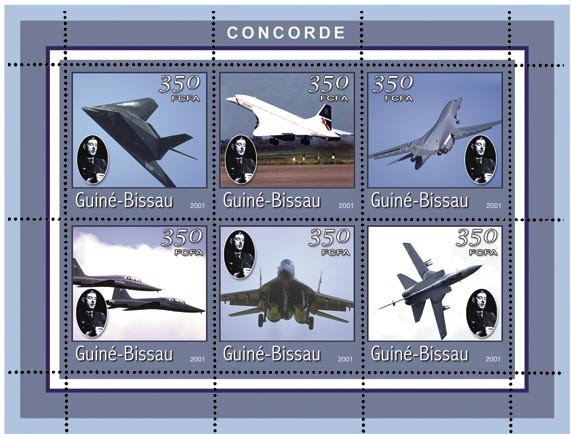 CONCORDES 6 x 350 FCFA - Issue of Guinée-Bissau postage stamps
