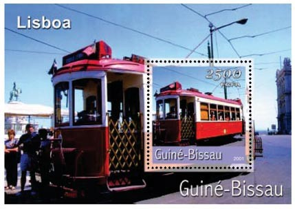 TRAM DE LISBONNE      2500 FCFA S/S - Issue of Guinée-Bissau postage stamps