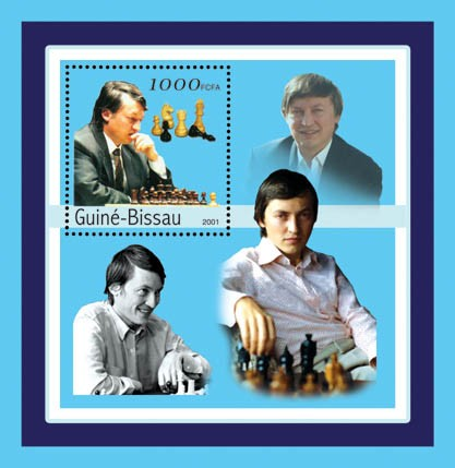 Anatoly Karpov (chess)    S/S - Issue of Guinée-Bissau postage stamps