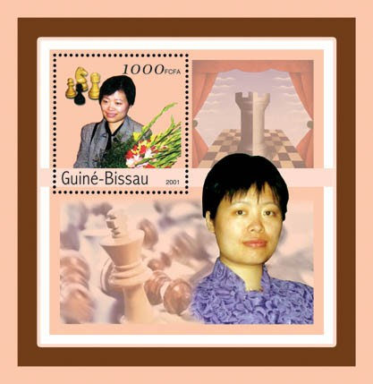 Xie Jun (chess)  S/S - Issue of Guinée-Bissau postage stamps