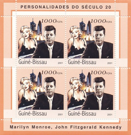 J.F.Kennedy - Marilyn Monroe     4 x 1000 FCFA - Issue of Guinée-Bissau postage stamps