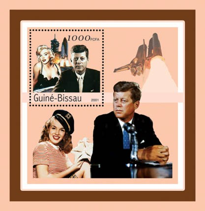 J.F.Kennedy - Marilyn Monroe     S/S - Issue of Guinée-Bissau postage stamps