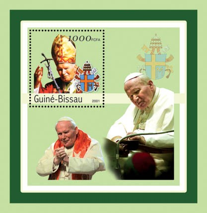 Joan Paul II    S/S - Issue of Guinée-Bissau postage stamps