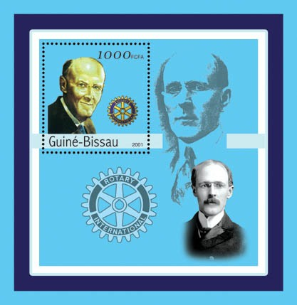 Paul Percy Harris ( Rotary)    S/S - Issue of Guinée-Bissau postage stamps